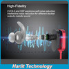 Harlit Magnetic Bluetooth Headphones Wireless Sports Headset Stereo Noise Cancelling Waterproof Mini Size
