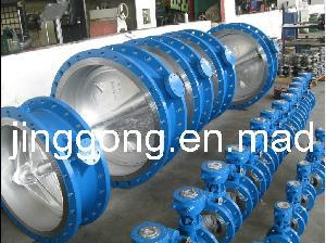 Two Eccentrical Butterfly Valve