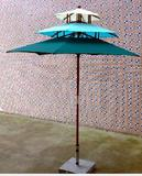 Wooden Umbrella With Three Layer/Outdoor Umbrella/Patio Umbrella/Beach Umbrella/Table Umbrella/Parasol
