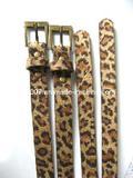 Leopard PU Leather Belt