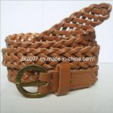 Men PU Belt Fashion Braided Leather Belts