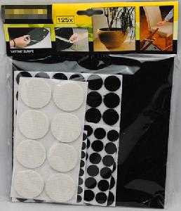 Home Helper Felt and EVA Pads Kit, 125 Pieces, Black and White