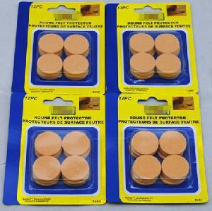 1′′ (25mm) Diameter Round Felt Pads, Beige, 12 PCS