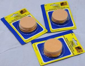 Self-Stick Round Felt Pads, Beige, 2 Inch