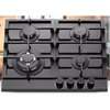 Built-in 60cm 4 burners gas stove/gas cooking hob/tempered glass gas cooktop