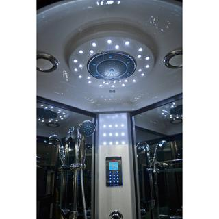 top shower and top light