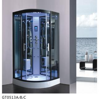GT0513 A/B/C Black Steam Shower Room