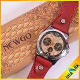 Fashion Genuine Leather Strap Stainless Steel Watch