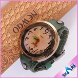 Ladies Stainless Steel Watch with Changeable Genuine Leather Strap