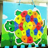 Turtle Letters Print Rubber Magnet for Children Study