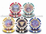 casino poker chips with sticker