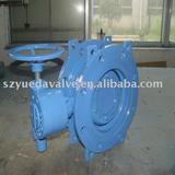 Double essentric butterfly valve