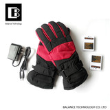 Carbon fiber silicone heating gloves