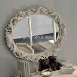 French style luxury wood graven kids elliptical large mirror--BG700019