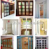 PVC Sliding door interior with ISO9001-2000