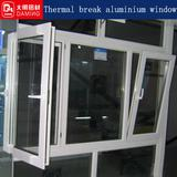 powder coated Heat Insulation Aluminum Casement Windows painting sections parts