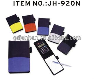 PVC leather notebook with calculator