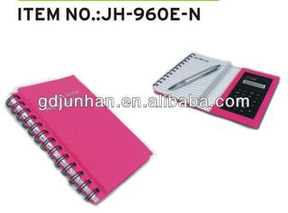 Kraft paper cover spiral notebook with calculator