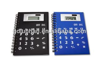 promotional spiral notebook with solar calculator
