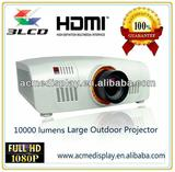 Native 1920x1200pixels 3LCD 10000 lumens projetor for Large-screen joining together, Full HD Large Venue Projector