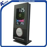 Weather station clock with color dispaly