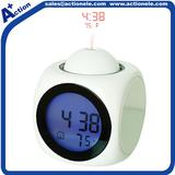 Projection clock and talking clock with alarm function