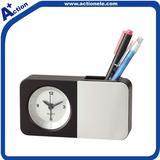 pen holder alarm quartz clock