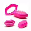 Hair salon equipment OEM logo lip shape mini folding hair comb