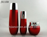 50g/40ml/120ml Red glass cosmetic bottles and jars with cap in shanghai factory