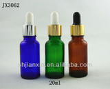 Colourful 20ml empty essential oil glass bottles with dropper in shanghai