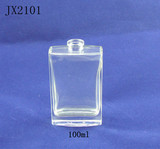 Plane 100ml empty perfume glass bottles in shanghai factory