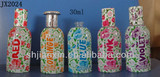 30ml High grade cylinder shape perfume bottles with decal in Shanghai