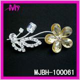 wholesale crystal flower brooch