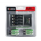 1-4 pcs AAA/AAA Intelligent Battery Charger