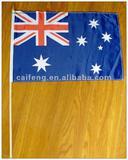 """Australia flag on wood stick 12""""x18"""""""