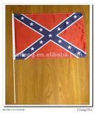 "Confederate flag on wood stick 12""x18"""