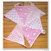pink shade cotton fabric bunting flags for baby girls room decoration