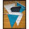 fabric bunting flags of blue white for boys room or wedding party