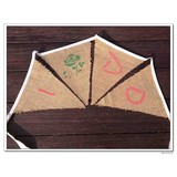 hessian bunting flags I DO and ROSE for wedding or party
