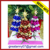 2014 mini ball decorated tabletop christmas tree wholesale star topper small christmas tree decoration