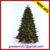 2014 china wholesale giant pinecone decorated christmas tree slim 7ft 210cm artificial christmas tree