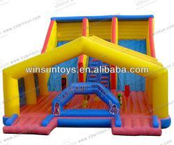 Cute Popular Children Playing Inflatable Dual Lane Slide