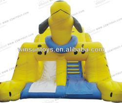 Cute Popular Children Playing Animals Inflatable Slides
