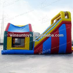 Cute Popular Children Playing 2012 New Inflatable Slide