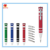 TP-001 2014 New Design Personality 8 in 1 Aluminum Alloy Multi Tool Pen With Screwdriver / Metal Multifunction Tool Pen