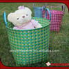 Set of 3 shiny PP strap woven laundry basket