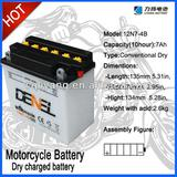 12V7AH Motorcycle/Scooter Battery