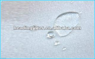 Water and oil repellent needle felt