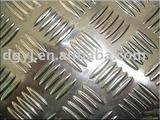 aluminum sheet with five bars
