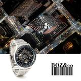 Wholesale IK Stainless Steel Self Winding Mechanical Men Wristwatch 98226-14045